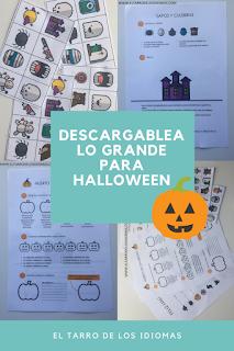 Ideas para trabajar Halloween en clase. Ideas día de los muertos. Fichas descargables Halloween bingo y Exit tickets.
