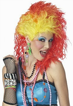 Cyndi Lauper wig and 80s accessories