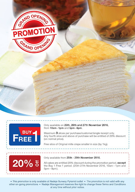 Nadeje Cake Shop Buy 1 Free 1 Opening Discount Promo
