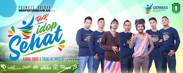 "Keseruan Launching Lagu ""YOK IDOP SEHAT"" Dari Promkes Kalbar Bersama Kamil Onte Ft Tazki Acapella"
