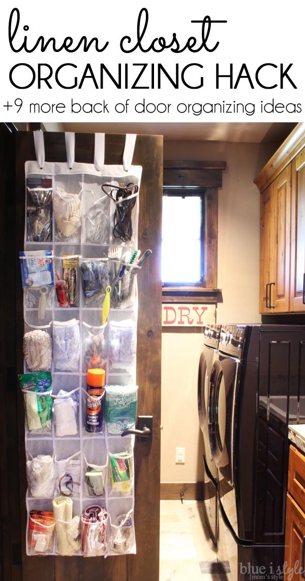 Linen Closet Door Storage