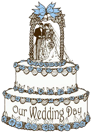 Wedding Graphics for Clergy: Click On Cake
