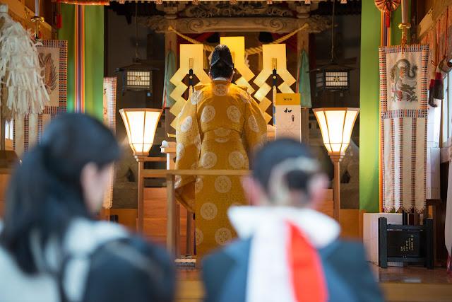 富山県八尾町杉原神社お宮参り