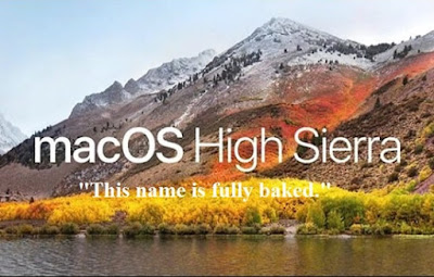 What is macOS 10.13 High Sierra named after?