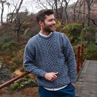Gents Merino Aran Sweater