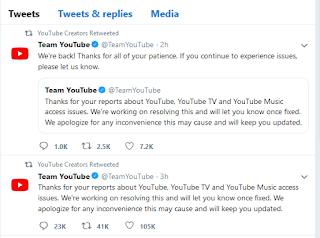 Youtube.com Down, Ini Penjelasan Dari Youtube