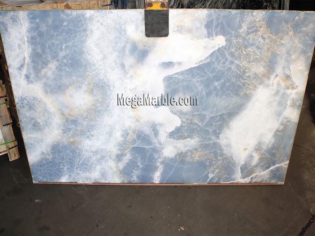 Blue Onyx slabs for countertops A
