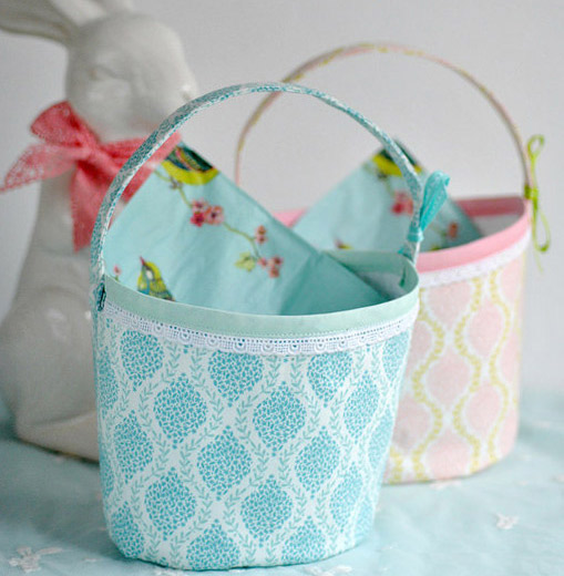 Fabric Basket Tutorial. How-to step by step.