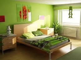 habitación color verde