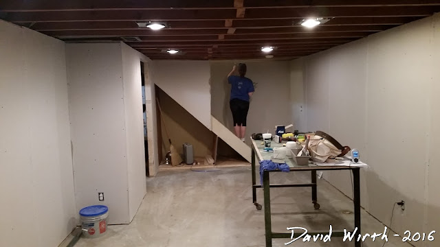 basement drywall, how to, easy