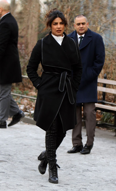 Priyanka Chopra Pic At Quantico Movie Set in Madison Square Park