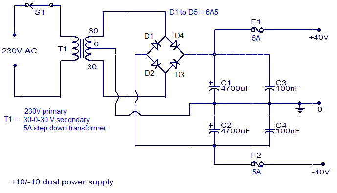 Simple Multivoltage Power Supply Wiring Diagram Schematic Wiring And