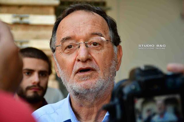 """Λαφαζάνης από το Ναύπλιο: """"Πολιτική ευθύνη είναι η παραίτηση - Αν βγει ο Μητσοτάκης αλίμονο στον τόπο"""" (βίντεο)"""