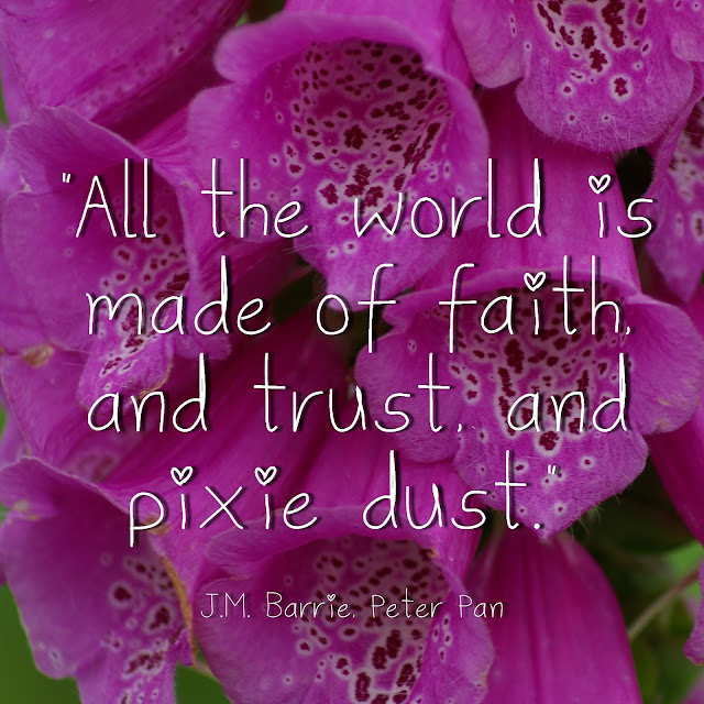 All the world is made of faith, and trust, and pixie dust. - J.M. Barrie, Peter Pan