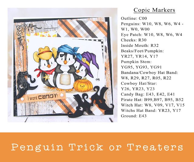 Heather's Hobbie Haven - Penguin Trick or Treaters Card Kit