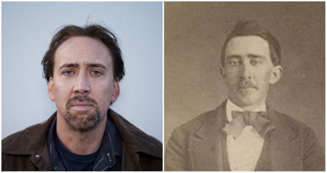 Nicolas Cage e um homem do Tennessee que lutou na Guerra Civil