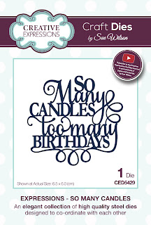 Creative Expressions Expressions Collection So Many Candles Die CED5429