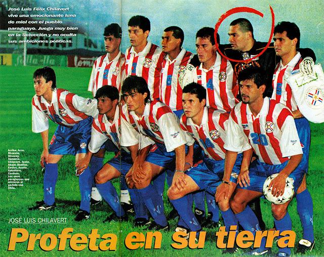 Formación de Paraguay ante Chile, Clasificatorias Francia 1998, 9 de octubre de 1996