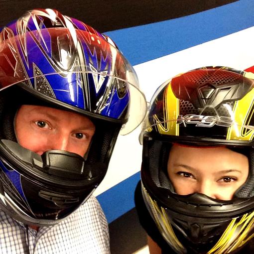 Travis and Nikki   Andretti Karting, Marietta Georgia