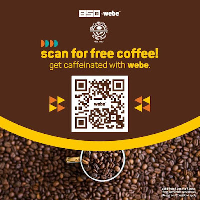 Free Coffee Bean & Tea Leaf Voucher Webe QR Code
