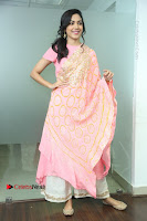 Actress Ritu Varma Pos in Beautiful Pink Anarkali Dress at at Keshava Movie Interview .COM 0164.JPG