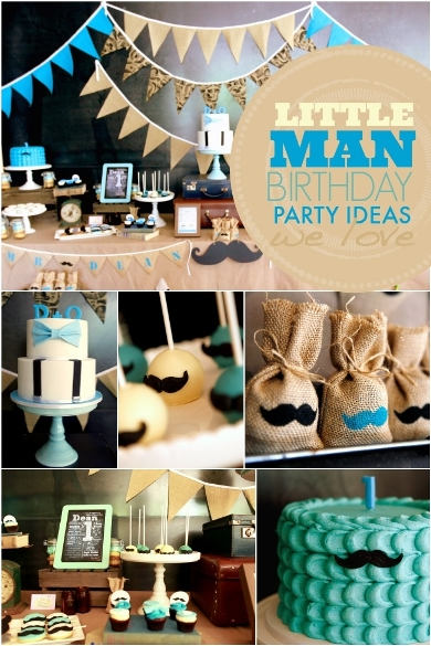 Little Man Birthday Themes For Boys