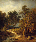Landscape with a Stream by Achenbach Andreas - Landscape paintings from Hermitage Museum