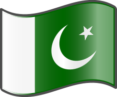 Pakistan wavy flag — WikiProject Nuvola, in the public domain