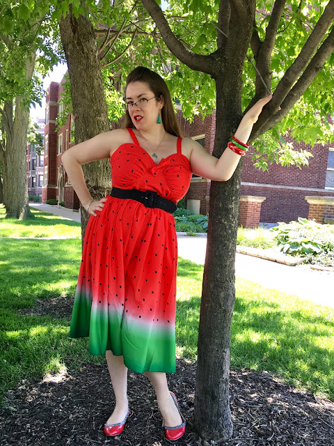 unique vintage doll me up watermelon dress