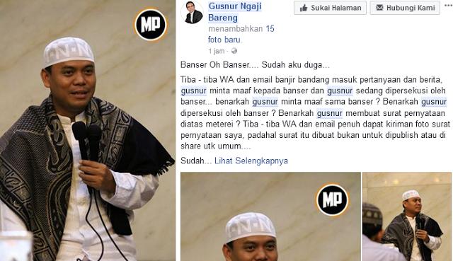 Sombongnya Naudzubillah, Habis Tandatangan Pernyataan Maaf Pada Banser dan NU, Gus Nur Kembali Berulah ........