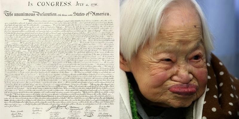 Unbelievable...These 23 Mind Blowing Facts Will DESTROY Your Understanding Of Time - The oldest living person's birth is closer to the signing of the Constitution than present day.