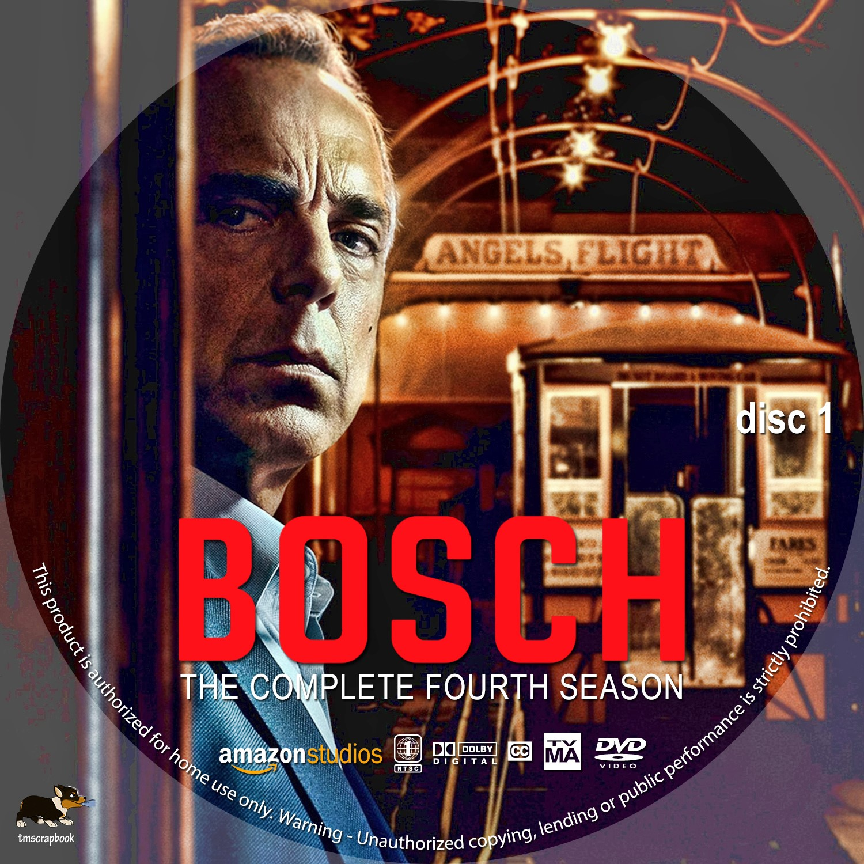 Bosch Season 4 Disc 1-3 DVD Label