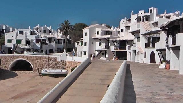 Casas típicas de Binibeca em Menorca