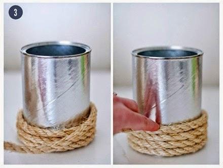 Macam macam Kerajinan Tangan, Vas Dari Kaleng Bekas 3