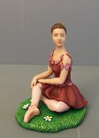 statuina per torta compleanno danza statuette ballerine scarpe ballo orme magiche