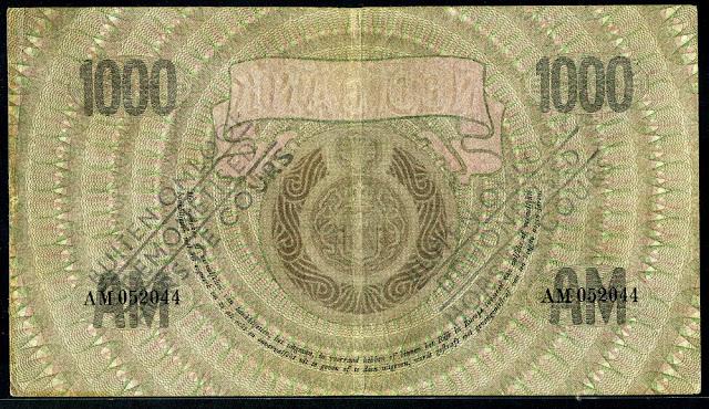 1000 Gulden note