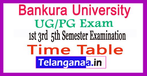 Bankura University UG PG Time Table