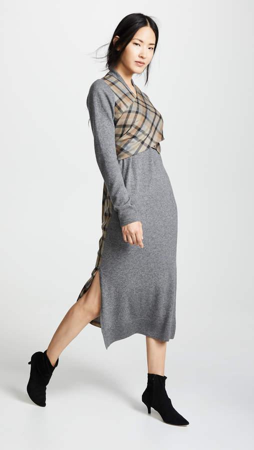 GOEN.J Wrap Knit Dress