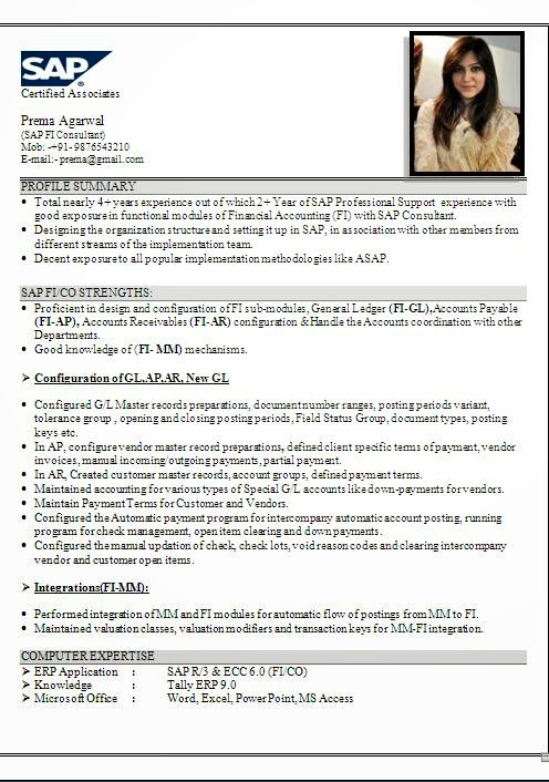 sap sd resume 1 year experience i want to mentions the sap sd a