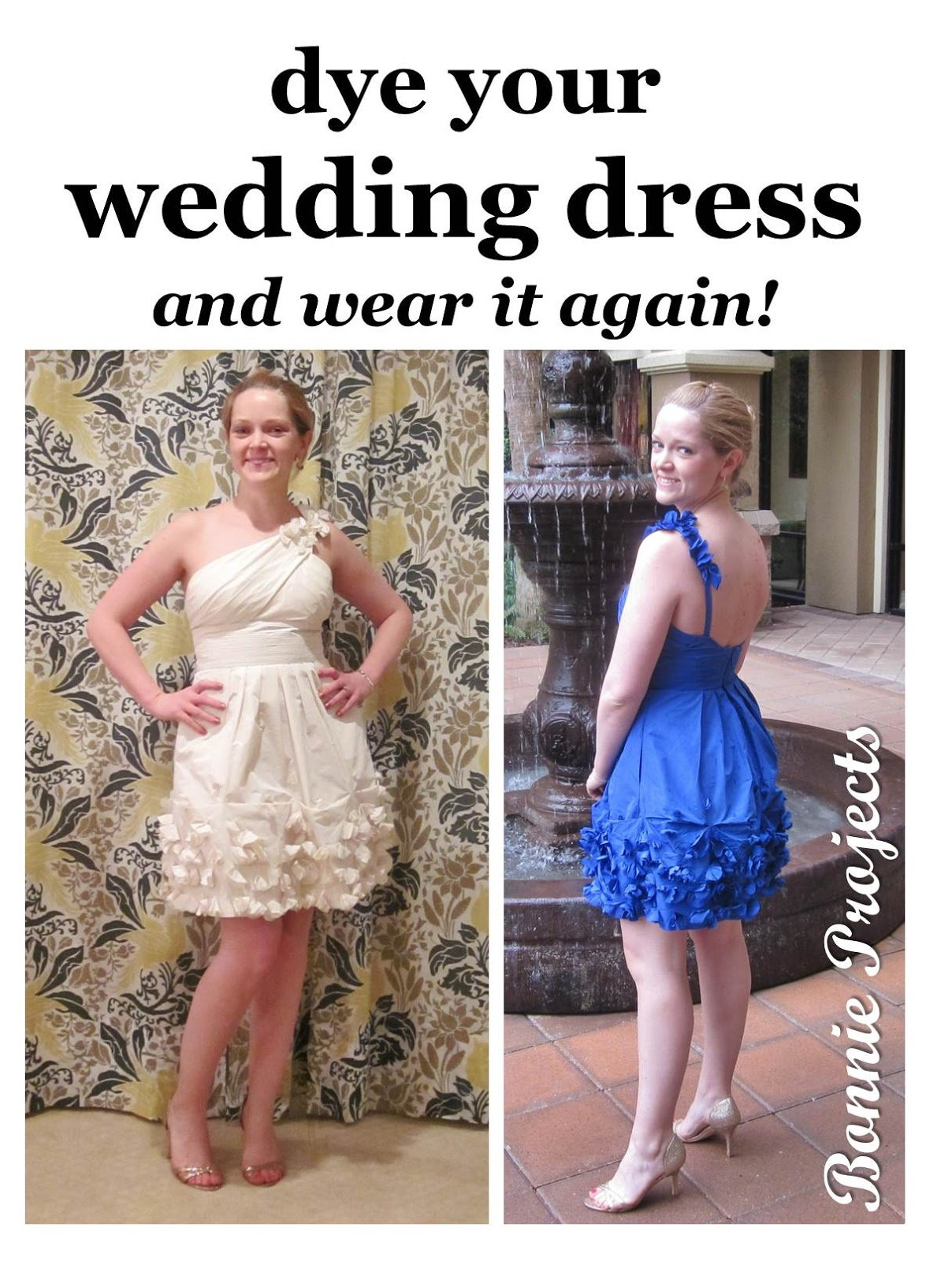 So There You Go A Successfully Dyed Polyester Wedding Reception Dress Wearable For Years To Come All Sorts Of Events