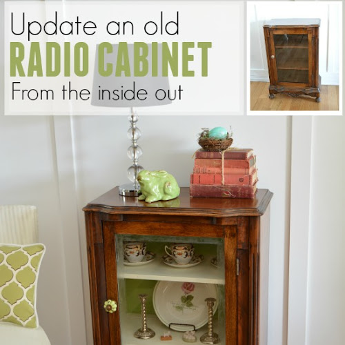 Antique Radio Cabinet Refreshed From The Inside Out