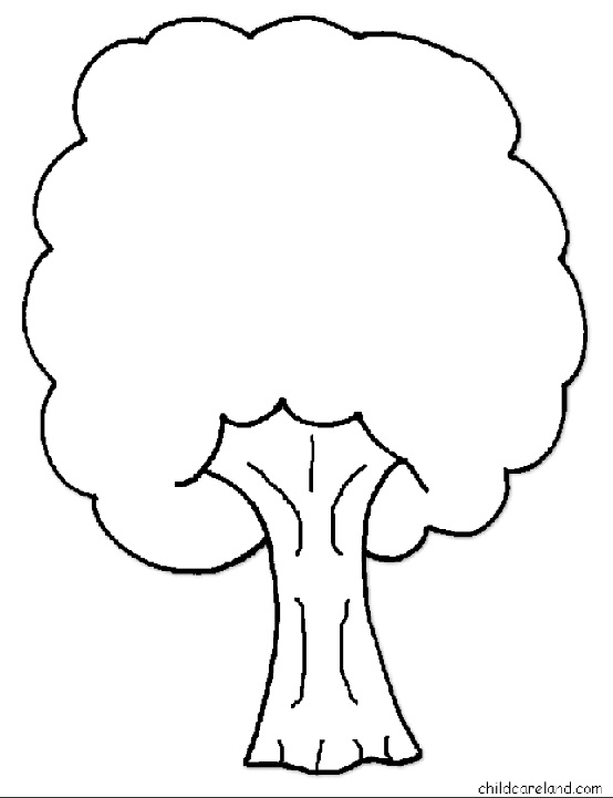 Okul öncesi Ağaç Gövdesi Boyama üst Ev Boyama Sayfası