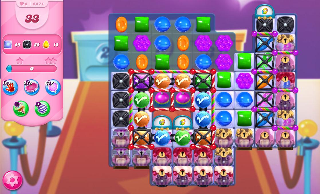 Candy Crush Saga level 6871