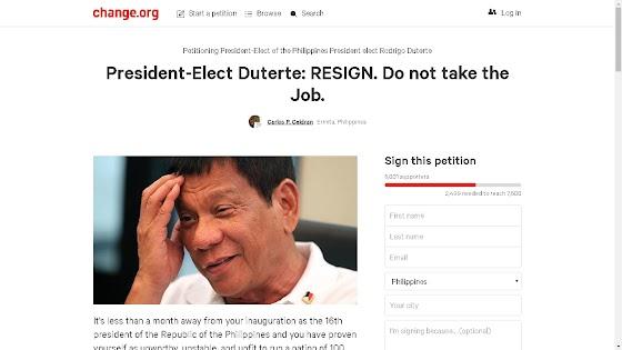President-Elect Duterte: RESIGN