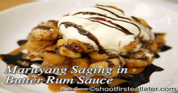 Maruyang Saging With Rum Butter Sauce Recipe