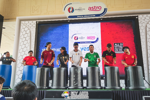 Stompers percussion performance @ UEFA EURO 2016 Kick Off event