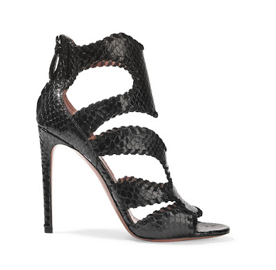 Alaia Whipstiched Python Sandals