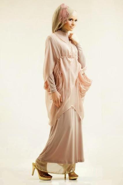 gaun pengantin muslimah modern simple