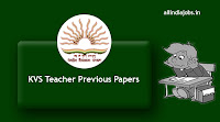 KVS Teacher Previous Papers