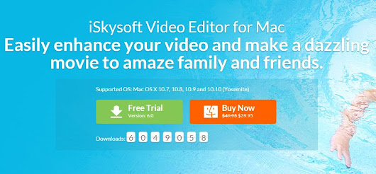 iSkysoft Video Editor for Mac ~ Blogger Yard